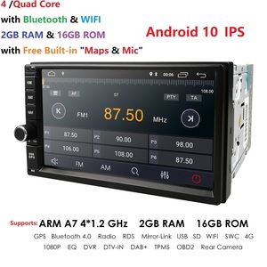 Image 3 - 2G RAM Android 10 Auto Radio Quad Core 7Inch 2DIN Universal Car NO DVD player GPS Stereo Audio Head unit Support DAB DVR OBD BT