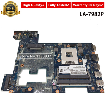 Free Shipping LA-7982P High Quality For Lenovo G580 N580 P580 Laptop Motherboard 100% Tested 11S0001175 QIWG5_G6_G9 mainboard