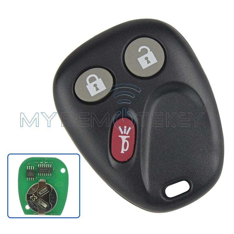 Daljinski ključ za GM GMC Hummer H2 Chevrolet Lavina Cadillac Escalade 3 gumb 315mhz LHJ011 2003 2004 2005 2006 remtekey
