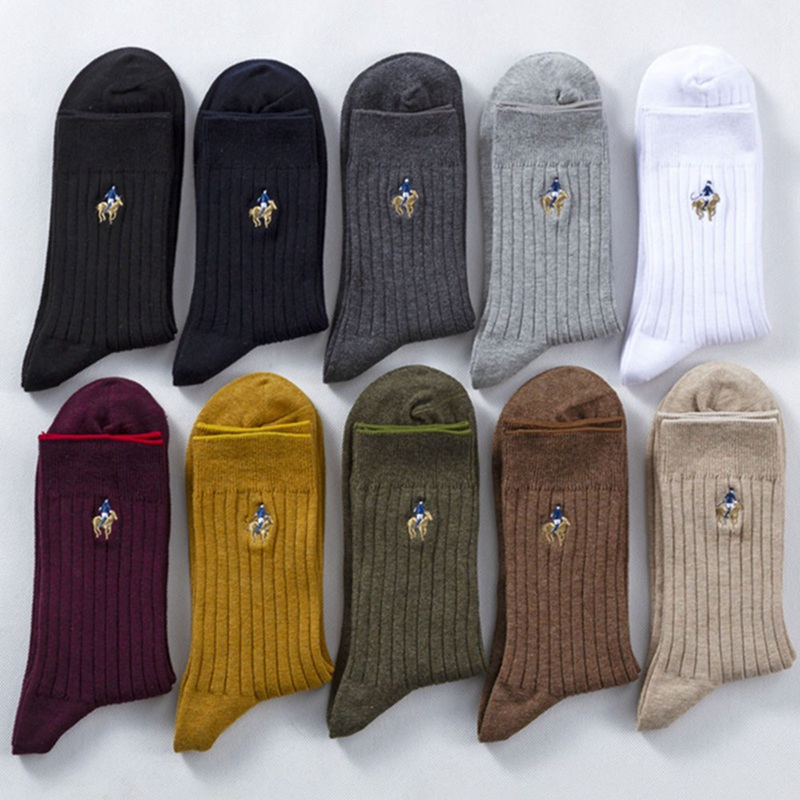Socks Men's Autumn And Winter Needle Solid Color Simple Business Socks Cotton Tube Men's Socks Plain
