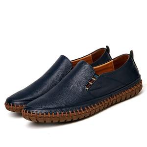 Image 4 - 가을 캐주얼 슬립 남성 가죽 신발 Mocassin Homme Moccasins Trend 2020 여름 운전 플러스 사이즈 49 50
