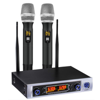 NEW UHF Wireless Microphone System, Wireless Microphone Long Distance 150 200Ft, over PA, Mixer, Speaker , for House Parties, Ka