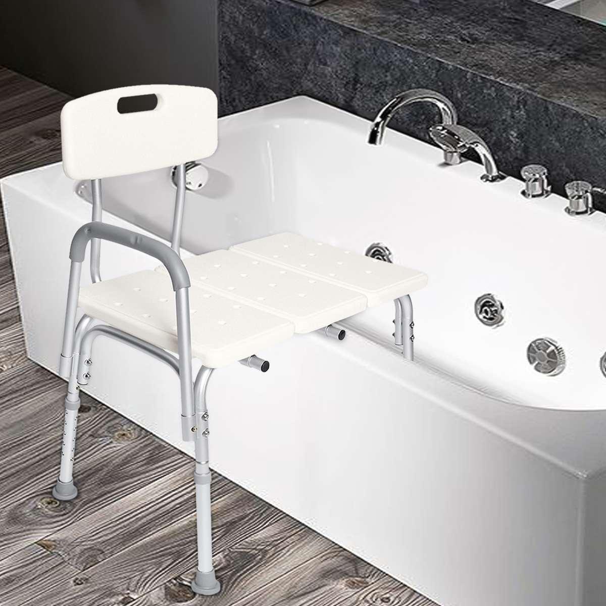 Стул для душа, переносная скамья, регулируемая высота, ванна с ручками, барные стулья для купания, медицинские алюминиевые 300 фунтов, мебель для дома