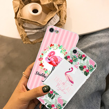 Phone Case Coque For iPhone xr 7 8 6 6S Plus x XS MAX 5 5S Soft TPU Silicone Cute Flamingo Phone Cover For iPhone 8 7 Plus цена и фото
