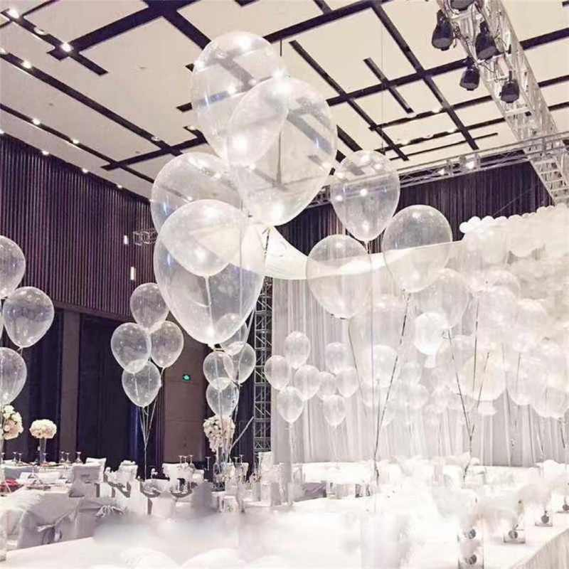 "20Pcs 10/"" Transparent Latex Balloons Birthday Wedding Party Decoration Clear"