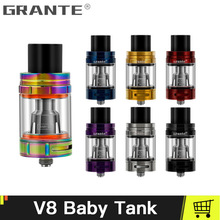 100% Original Grante V8 Baby Atomizer With V8 Baby Vape Core Fit For V8 Big Baby Coil Head Q2/M2/X4/T6/T8/Mesh Vape Coils 100% original smok tfv8 big baby beast tank atomizer 2ml eu version w v8 baby q2 eu core top refill system 0 4ohm vs tfv12