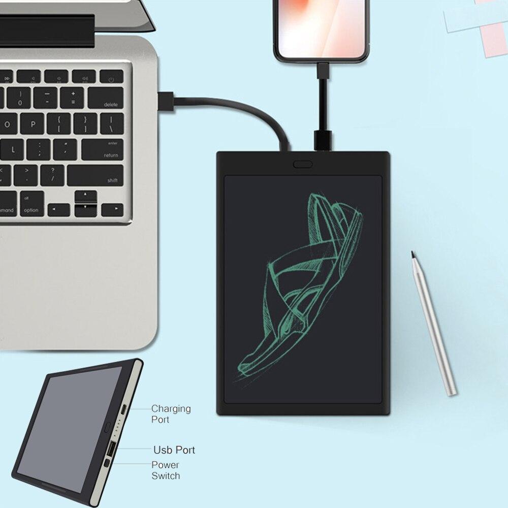 Machine d'apprentissage LCD batterie externe tablette d'écriture multifonction sans fil charge trésor sans fil charge peinture dessin jouets