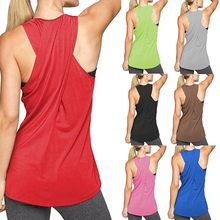 Curve Sexy Back Cross Hollow Yoga Shirt Losse Workout Top Vrouwen Mouwloos Vest Gym Sport Quick Dry Running Tank Top(China)