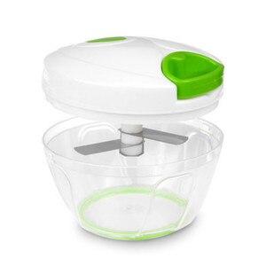 Image 5 - 500ml Manual Food Processor Shredder Vegetable Meat Chopper Slicer Mincer Tool