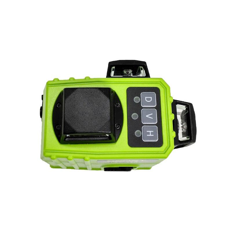 Xeast XE-61A 2019 heißer 12 linie 3D grün laser horizontale im freien grüne strahl 360 ebene gekippt werden kann