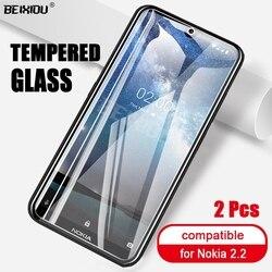 На Алиэкспресс купить стекло для смартфона 2 pcs full tempered glass for nokia 2.2 screen protector 2.5d 9h tempered glass for nokia 2.2 protective film