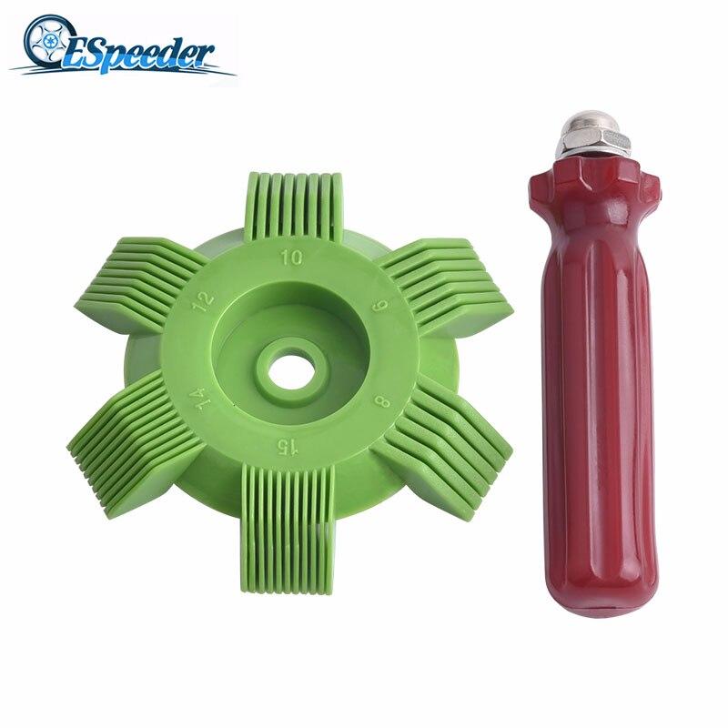 Espeeder universal carro a/c radiador condensador evaporador fin alisador de bobina pente plástico ferramentas reparo do sistema refrigeração automóvel