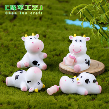 Cute Mini Animals Resin Cows Crafts Fairy Garden Figurines Miniatures Home Micro Moss Landscape Manufacturing Accessories europe flowerpo animal figurines resin arts and crafts room furnishings fairy garden miniatures rustic home decor accessories