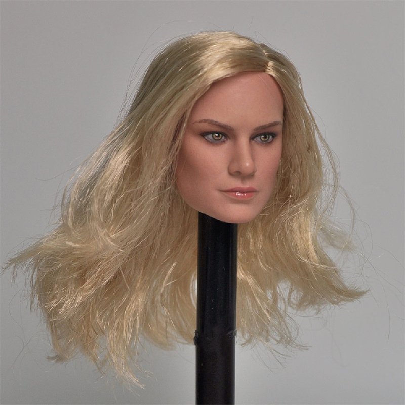 Delicate Painting 1//6 Scale Captain Marvel A Style Brie Larson Head Sculpt