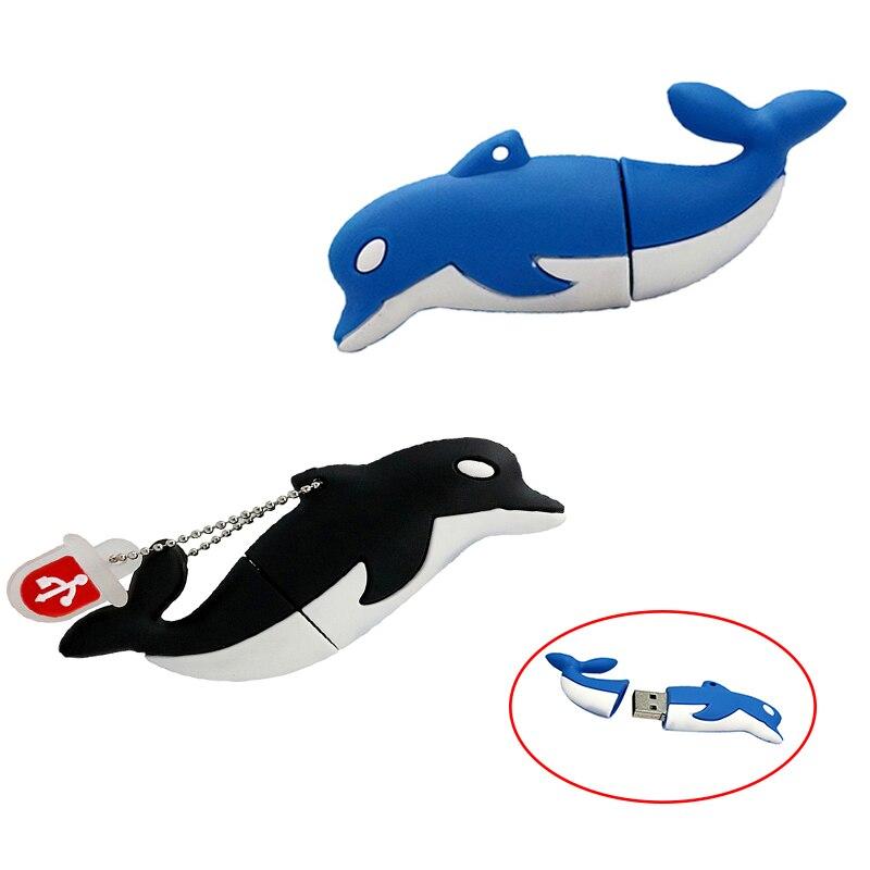 Clé Flash USB personnalisée Dolphin, clé usb 4 256, clé Flash USB 8 go, 64 go, 16 go, 32 go, 128 go, clé usb 4 256