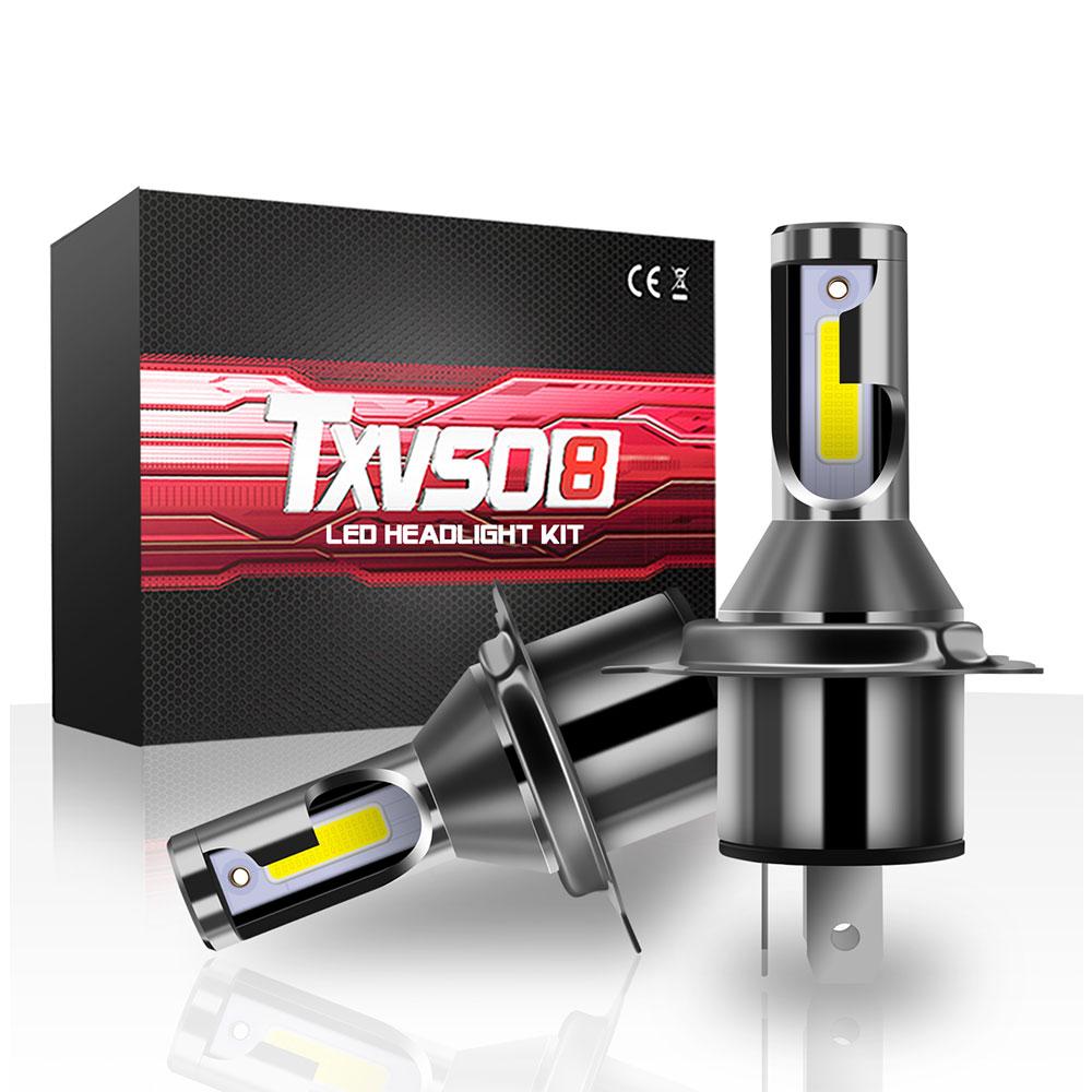 TXVSO8 последняя Диодная лампочка H4 светодиодный головной светильник s для автомобиля мини 9003/HB2 Hi/короче спереди и длиннее сзади) Универсальны...