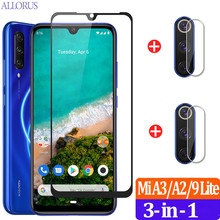 9H Scratch Proof Tempered Glass For Xiaomi Mi A3 Screen Protector Xiomi Mi A3 Protective Glass Mi A 3 CC9e Mi 9 Lite Front Film ven a mi