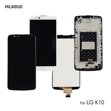 LCD Display For LG K10 K430 K420 M2 K428 K420N Touch Screen Glass Digitizer Full Assembly Black White Gold No/with Frame 5.3