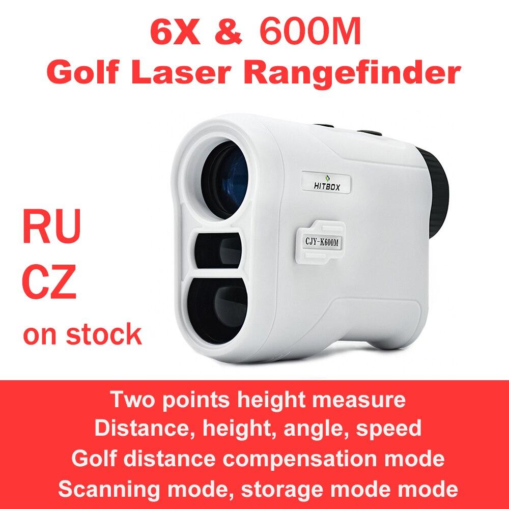 Лазерный дальномер для гольфа 800 м, монокулярный телескоп 6X для охоты, лазерный дальномер, скорость, высота, угол, сканирующие измерительные ...