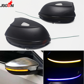 For Volkswagen VW Passat B7 CC Scirocco Jetta MK6 EOS Beetle Dynamic Turn Signal Light LED Side Mirror Sequential Indicator Lamp