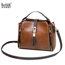BRIGGS New Womens bag Women PU Leather Handbags Vintage Lady Hand Bag Shoulder Messenger Small Purse Sac A Main Bolsa