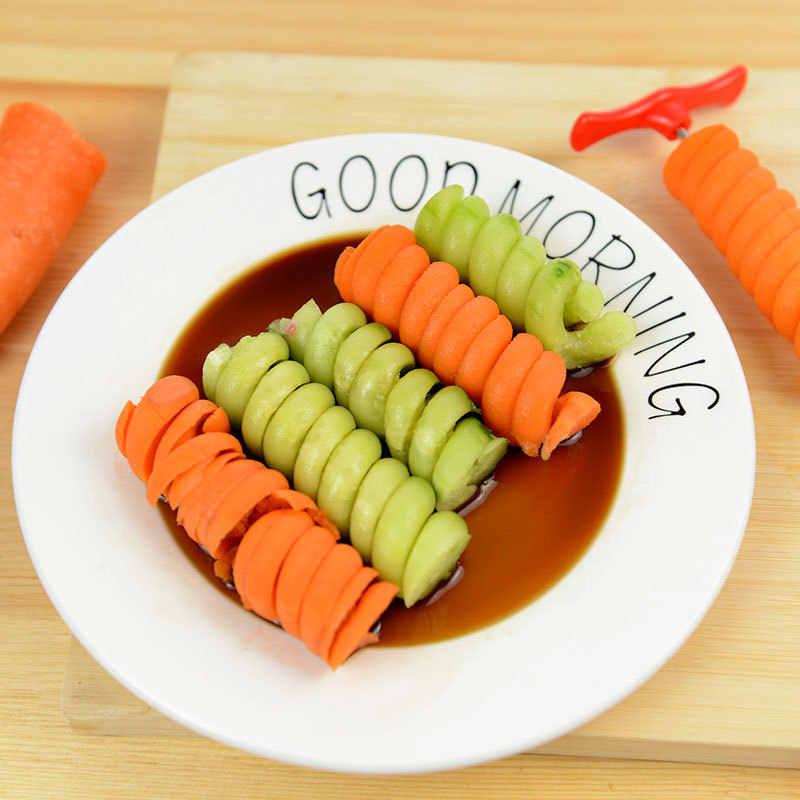 Cortador en espiral Manual para verduras, cortador en espiral para patatas, herramienta portátil para Cocina