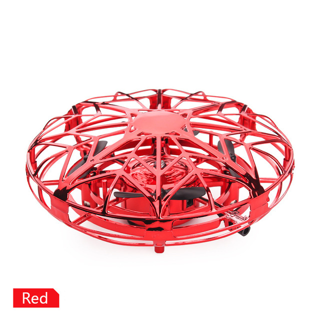 Anti-collision Mini UFO Drone Hand Flying Globe Quadcopter Hand Controlled Helicopter LED Induction Flying Ball Aircraft RC Toys