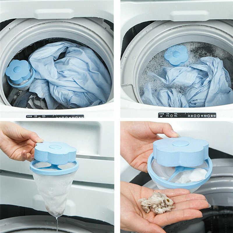 Magic Filter สำหรับเครื่องซักผ้า 1Pcs เครื่องซักผ้าผม Lint Fluff โลภ Remover Reusable กำจัดขนซักรีด ball