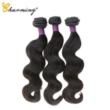 CHARMING Brazilian Body Weave Natural Hair Bundles Remy 100% Human Virgin 3 Piece 8-30inch Extension