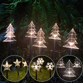 Luces navideñas para jardín QIFU 2020, decoración navideña para el hogar, adornos navideños, regalos de Navidad, Feliz Año Nuevo 2021, Navidad Noel