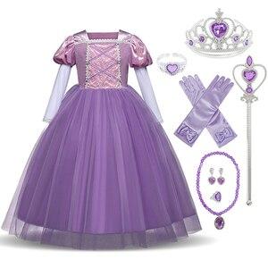 Нарядное платье для девочек Детский Костюм Золушки на Хэллоуин, Белоснежка платье принцессы на возраст 4, 6, 8, 10 лет рождественское платье Ра...
