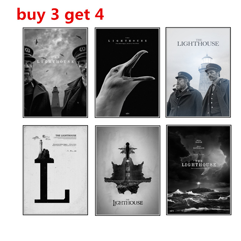 The Lighthouse Poster  Professional White Copperplate Film Poster Retro Poster Wall Home Decoration