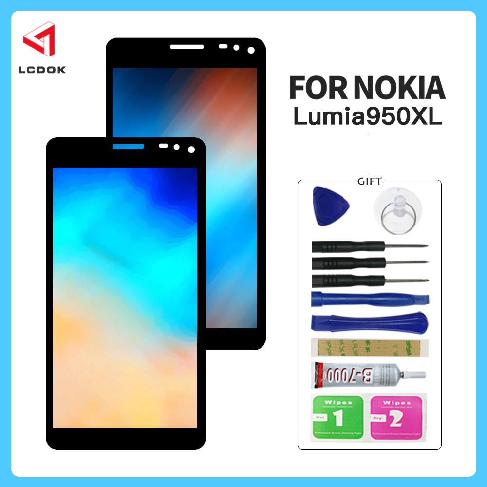 100% Tested Screen For Nokia <font><b>Lumia</b></font> <font><b>950</b></font> XL RM-1185 RM-1116 LCD Display Touch Screen Digitizer Assembly Panel Replacement <font><b>Parts</b></font> image