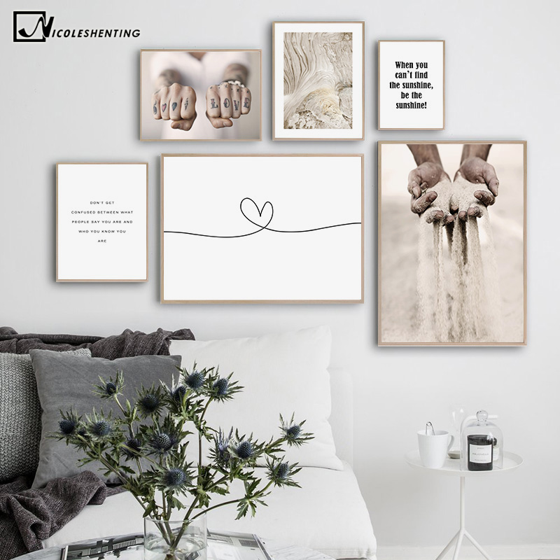 Healing Motivational Quotes Canvas Nordic Poster Abstract Art Wall Print Painting Scandinavian Modern Home Decoration Picture