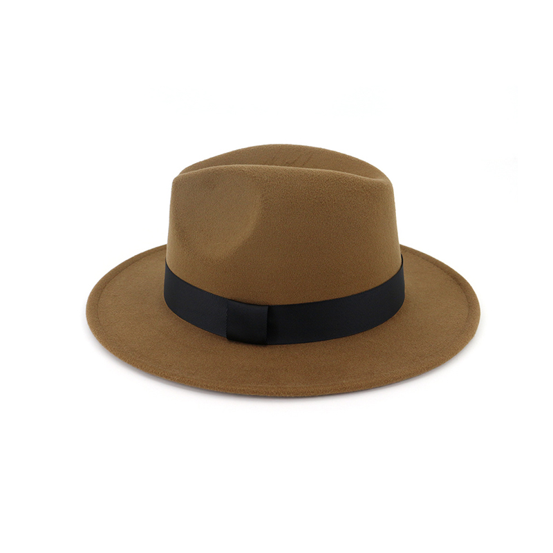 New Vintage Fedora Men Wool Wide Brim Top Hat Witner Autumn for Woman Chapeau Black Church Hat Bowler Ladies women's Jazz Hats 3