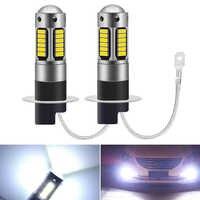 Bombilla LED H3 H1 Super brillante 30 4014SMD, luces antiniebla de coche, 12V, 6000K, lámpara de conducción diurna, superbrillante, DRL, 880, 881, 2 uds.