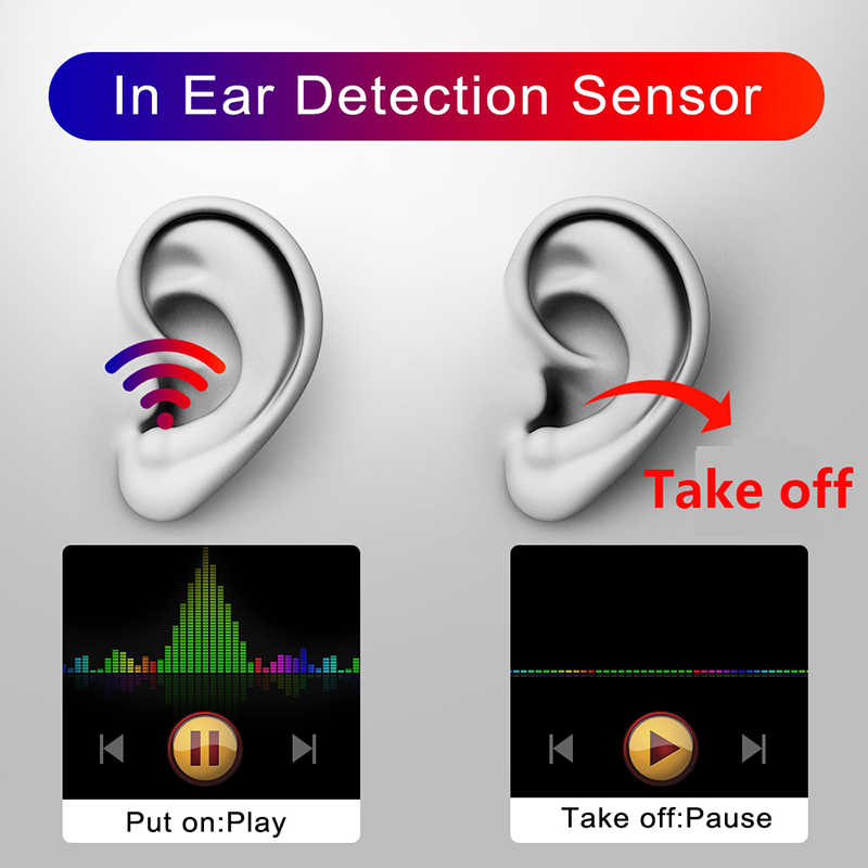 I60 TWS หูฟังไร้สายบลูทูธหูฟัง Super BASS หูฟัง Aire 2 1:1 สำเนาสมาร์ทในหู SENSOR หูฟัง QI Charge