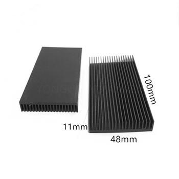1pcs Heatsink Aluminum 48X11-100MM Ultra-thin aluminum radiator for CPU Heat sink Electronics Cooling Fan cooler image