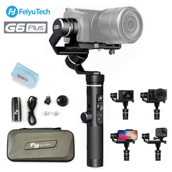 Feiyu G6 Plus 3-Axis Handheld Gimbal Stabilizer for DSLR Digital Cameras Smartphone Video Action camera Within 800g Splash Proof