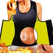 Shapewear Sauna-Sweat-Vest Weight-Loss-Belt Thermal-Shirt Waist-Trainer Sports-Top Slimming