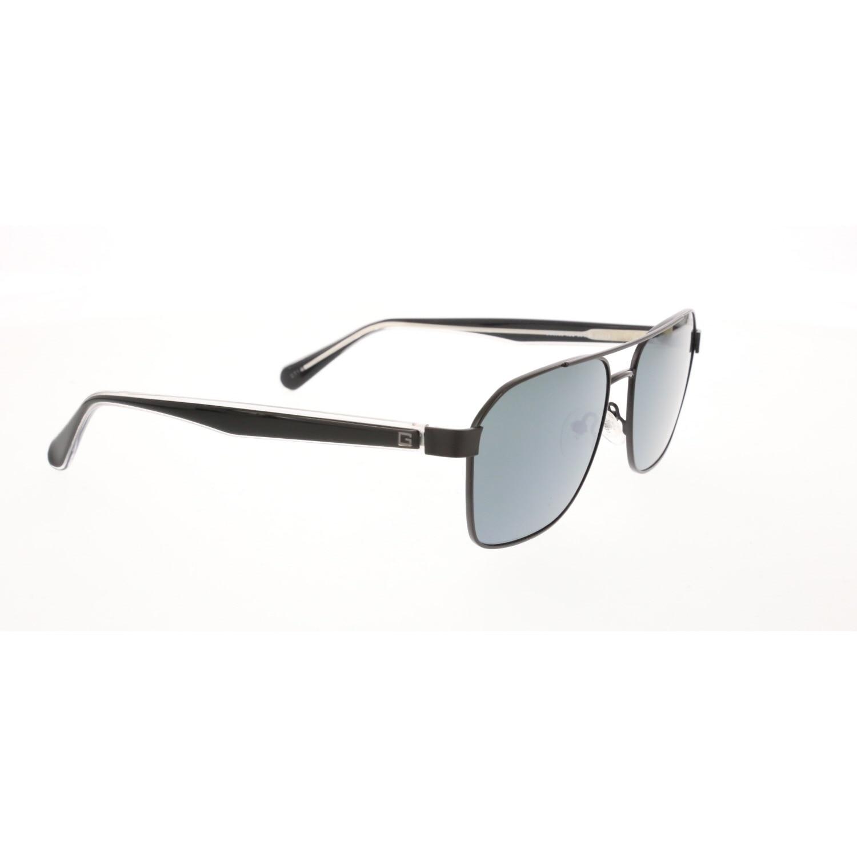 Men's sunglasses gu 6936 02c 58 metal black organic square square 58-16-150 guess