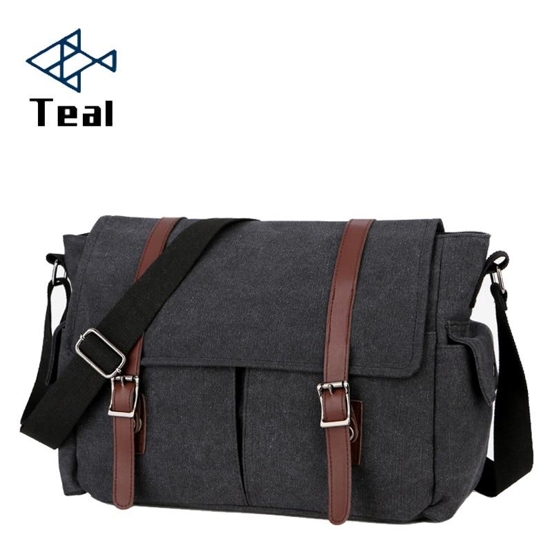 2020 Men Canvas Briefcase Travel Suitcase Messenger Shoulder Tote Handbag Large Casual Business Laptop Multifunction