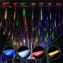 Multi-color Strip Lights Meteor Shower Rain Tubes LED String Christmas Lights Wedding Garden Holiday Decorate Waterproof Light