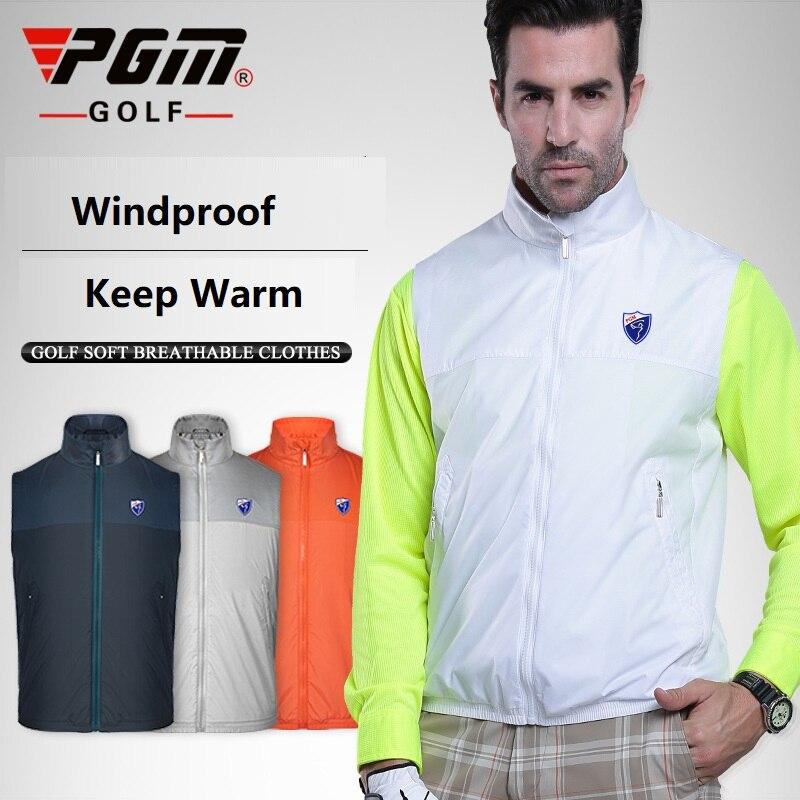 Men's Golf Vest Coat Jacket Full-Zip Sleeveless Windproof Coat Man Competition Uniform Spring Autumn Waistcoat Golf Jacket Vest