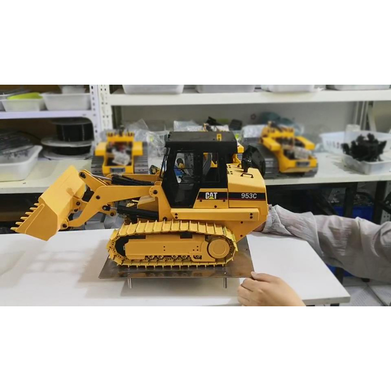 NEW 1/14 CAT 953 Carter All-metal Crawler Loader Model Hydraulic Hand-made Brushless Walking