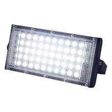 Светодиодный прожектор, уличный Точечный светильник, 50 Вт, настенный светильник, отражатель IP65, водонепроницаемый светильник, садовый RGB прожектор, светильник AC 220 В 240 В