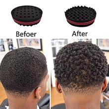 Two-sided Hole Oval Sponge Brush Curler Elastic Magic Twist Afro Curl Coil Wave Tool