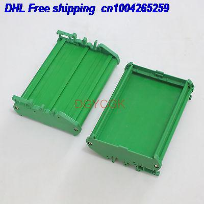 DHL 20pcs 1x DIN Rail Mounting Carrier Housing  For Prototype PCB Size 72x115mm Project DIY Connector  22-ct