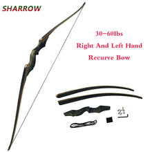 60 Inch Archery American Hunting Recurve Bow Weight 30-60lbs Left Right Hand Shooting Hunting Accessories стоимость