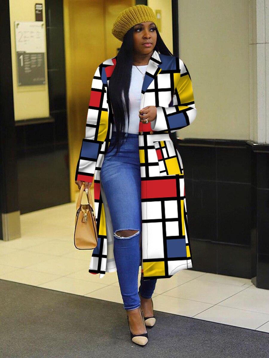 African Women Long Sleeve Printing Plus 3